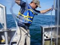 Student on a GLC research vessel