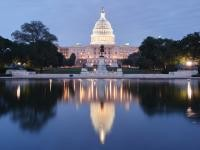 U.S. Capitol building with reflecting pool